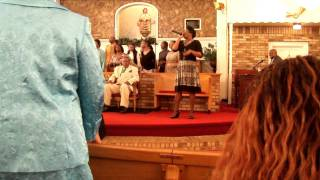 "Psalmist Tiffany Tatum singing ""In the Midst of It All"" by Yolanda Adams"