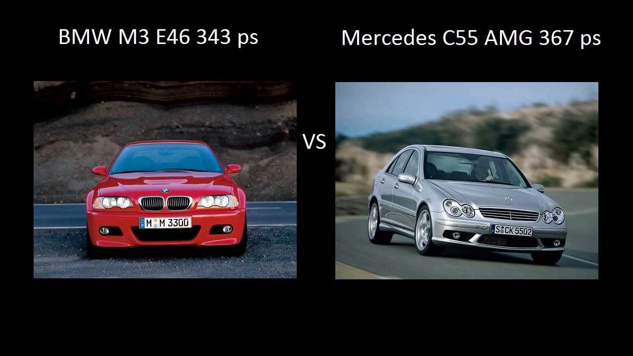 bmw m3 e46 343 ps vs mercedes c55 amg 367 ps acceleration. Black Bedroom Furniture Sets. Home Design Ideas