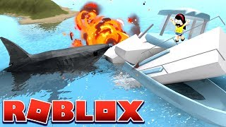 Directionally Challenged Lastic vs. The Shark - Roblox Shark Bite - DOLLASTIC PLAYS!
