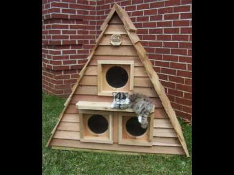 Outside Cat House   An Outdoor Cat Shelter for Cats   YouTube. Outdoor Cat House Winter Warmer. Home Design Ideas