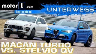 Alfa Romeo Stelvio QV vs. Porsche Macan Turbo PP | UNTERWEGS mit Daniel Hohmeyer