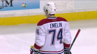 Alexei Emelin Flips Milan Lucic With Huge Hip Check! 3/24/14 thumbnail