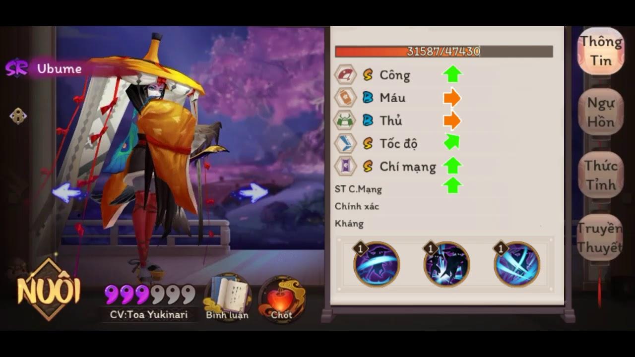 [Fanmade] Âm Dương Sư - Thức thần Ubume hướng dẫn bỏ túi