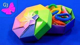 Оригами коробка для украшений