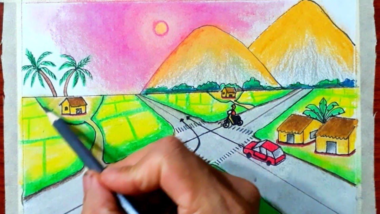 Vẽ tranh an toàn giao thông P8 – thứ tự các xe đi như thế nào là đúng quy tắc giao thông