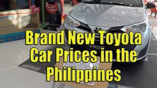 New Toyota Car Prices In The Philippines. (2019)