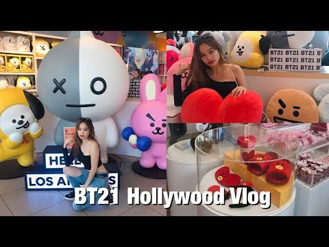 BT21 Hollywood Store Vlog +HAUL | Amvxr 🐨