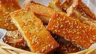 【小穎美食】過期的麵包不要扔,教你做小零食,香甜酥脆,出鍋孩子搶著吃,香