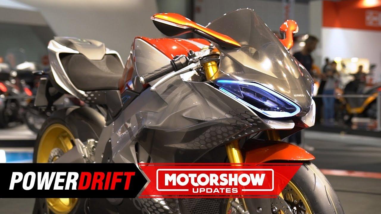 76d950afba6 Electric Superbike KYMCO SuperNEX concept revealed at EICMA 2018 - KNine Vox