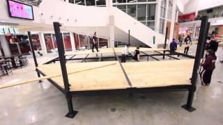 Octagon Setup for Chris Weidman Seminar at Algonquin College.