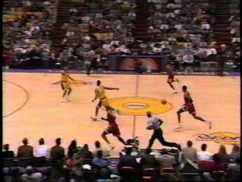 Pippen steals it from Eddie Jones, dishes to Jordan (