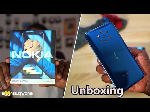 Nokia 9 Pureview Unboxing: 5 Cameras Revealed!