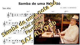Samba De Uma Nota Só Partitura Sax Alto Tom Jobim
