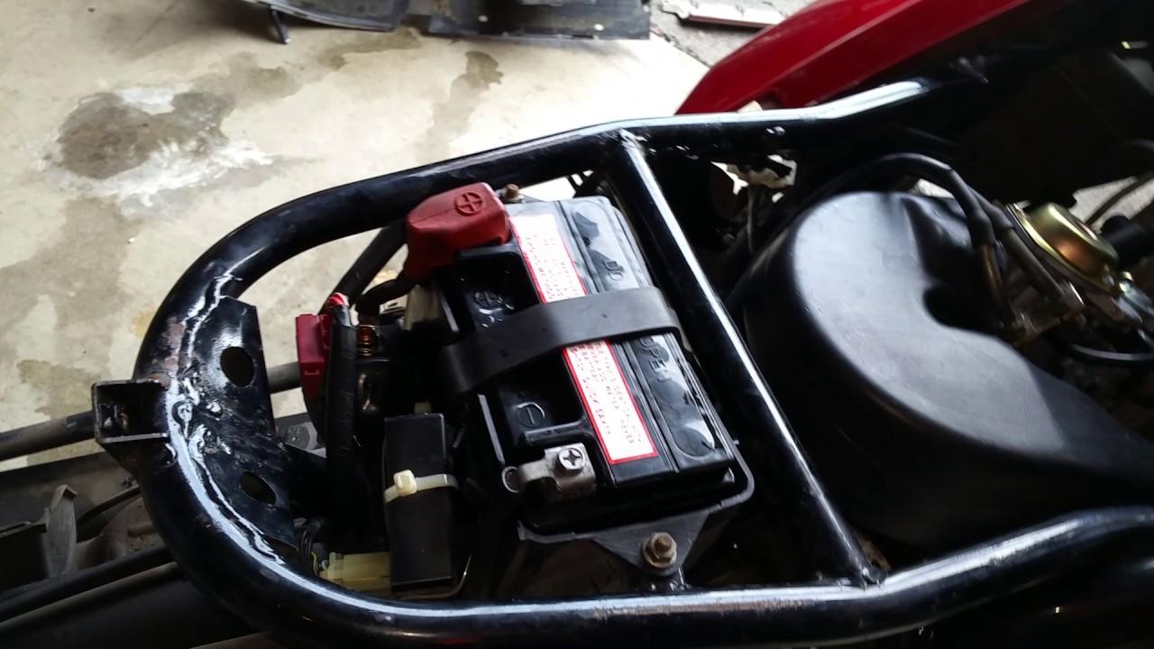 bypass or disable foot brake starter switch test solenoid wont start honda helix motorcycle cn250 [ 1280 x 720 Pixel ]