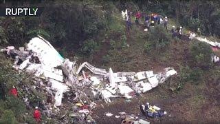Авиакатастрофа в Колумбии: видео с места трагедии(Подробнее читайте на сайте: http://ru.rt.com/7825 Подписывайтесь на RT Russian - http://www.youtube.com/subscription_center?add_user=rtrussian RT на., 2016-11-29T18:53:46.000Z)