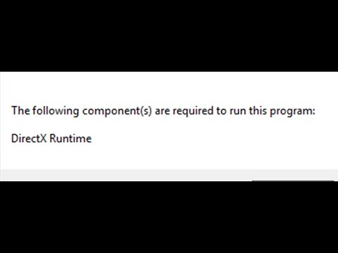 Pubg Lite The Following Components Are Required To Run This Program Directx Runtime