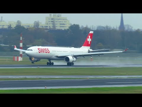 UPGRADE: SWISS Airbus A330-300 [HB-JHC] Landing and Takeoff from Berlin Tegel Airport TXL!