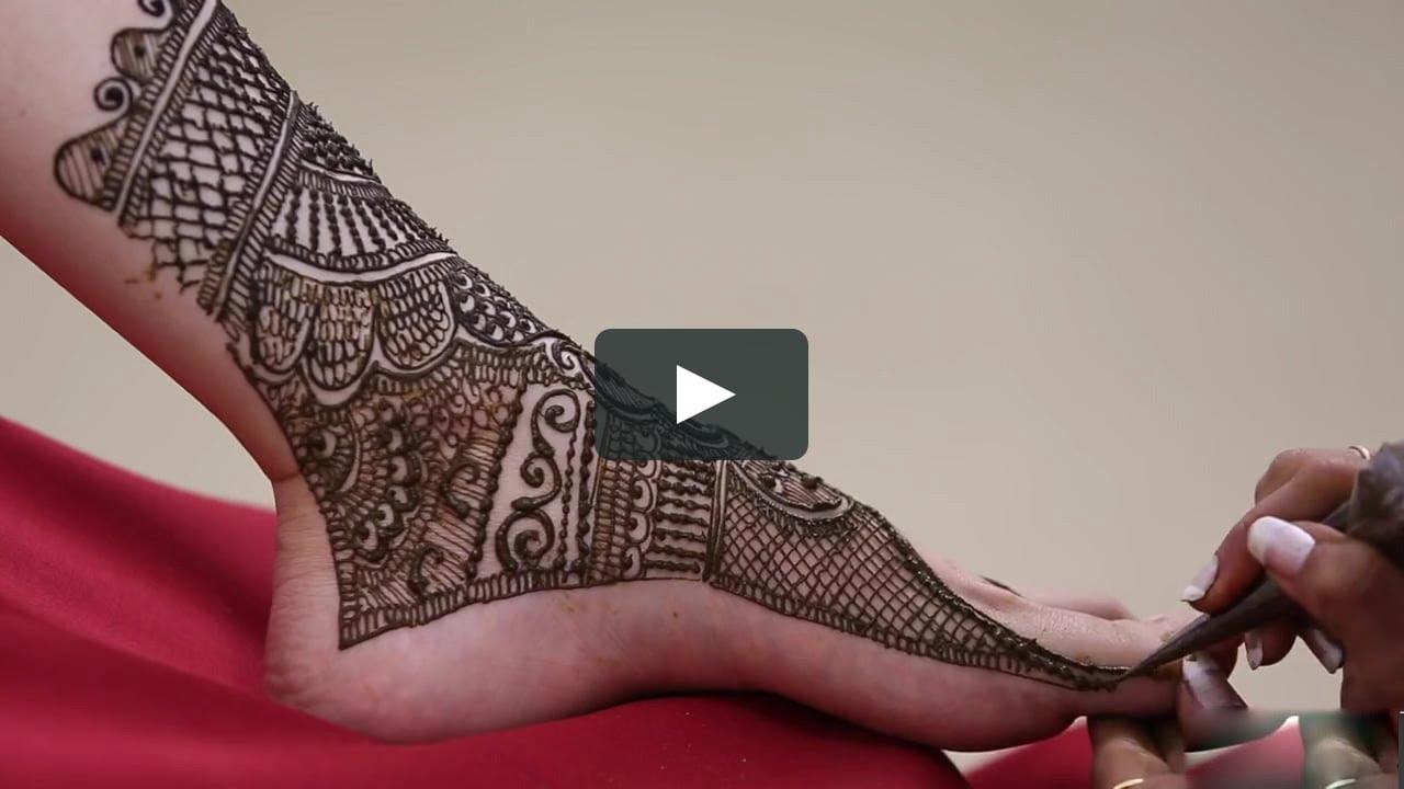 Bridal Leg Mehndi Images : Bridal mehndi designs for legs live youtube