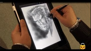 How to draw Wolverine on Ipad: by DAVID BALDEON