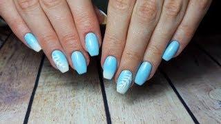 Нежный дизайн ногтей/Градиент кистью/Маникюр/Омбре, самый простой способ!