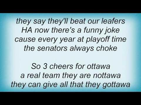 Adam Sandler  Three Cheers For Ottawa Go Leafs Go Lyrics