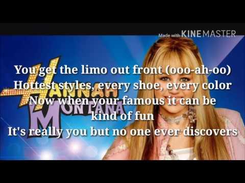 Hannah Montana Theme Song w lyrics