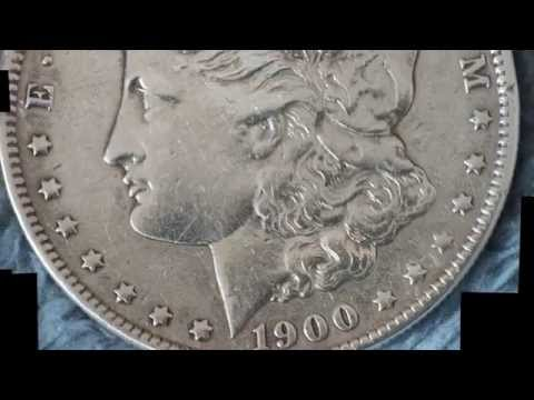 1900 O Morgan Silver Dollar 4K macro test