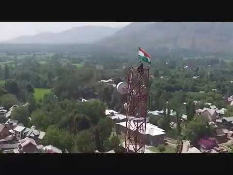 indian army removed pak flag and hoisted indian flag