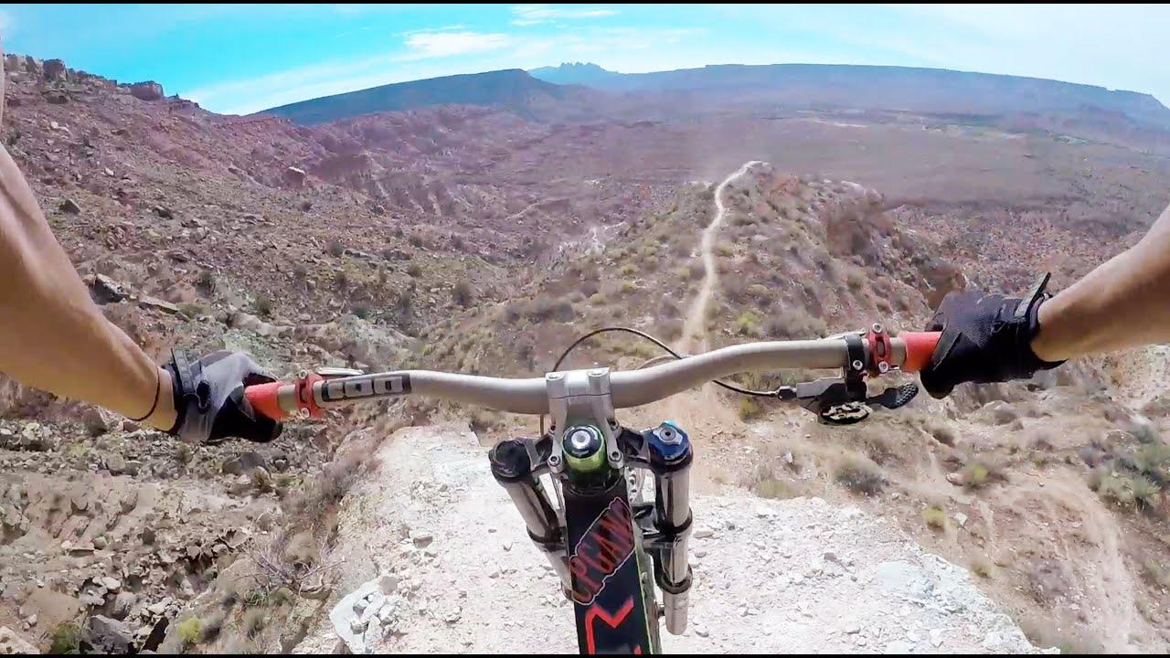 Terrifying trail run on mountain bike in Utah really is something