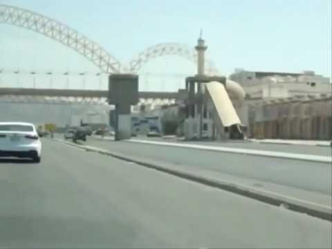 Travel by car inside Mecca, Saudi Arabia.