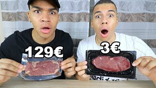 3€ STEAK VS 129€ STEAK !!! | PrankBrosTV
