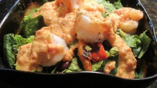 Southwest Shrimp Salad With Yogurt And Roasted Red Pepper Dressing