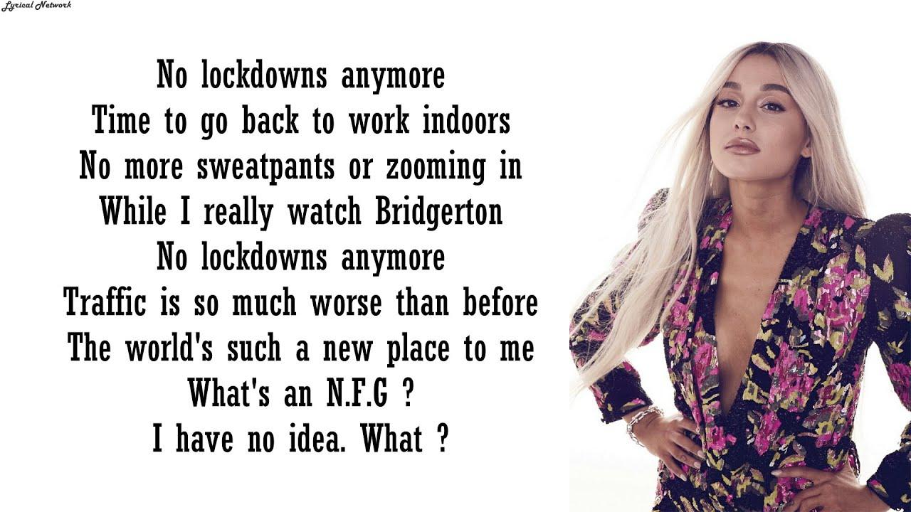Ariana Grande - No Lockdowns Anymore (ft. James Corden) | Lyrics