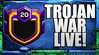 INDIA Vs RUSSIA! TROJAN WAR LIVE*5 MINS 60 ATTACKS CLASH OF CLANS•FUTURE T18