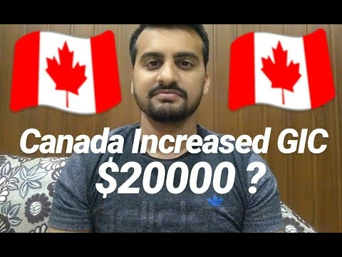Canada Increased GIC $20000 For Students?