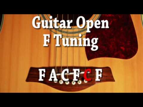 Guitar Open F Tuning F A C F C F