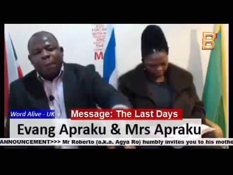 Evang Apraku - Word Alive UK (message: Last days)