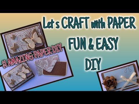 CRAFTING with PAPER | $1 AMAZING DIY