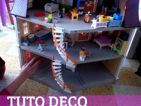 Tuto deco am nagement maison playmobil youtube for Amnagement maison