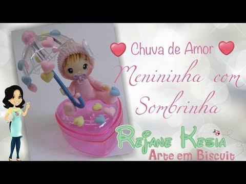 DIY Chuva de Amor - Menininha com guarda chuva - live do facebook do dia 21/04/2018