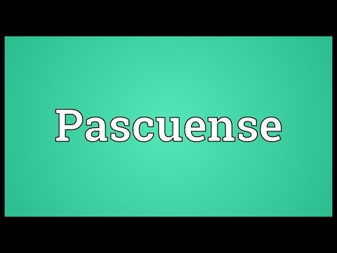 Pascuense Meaning