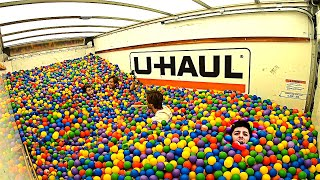 Download 1,000,000 Ball Pit Balls in a Moving Truck! (CRAZY) Mp3 and Videos