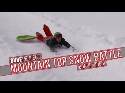 Dude Perfect: Mountain Top Snow Battle BONUS Video