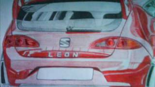 Seat Leon Cupra R | Drawing Time Lapse