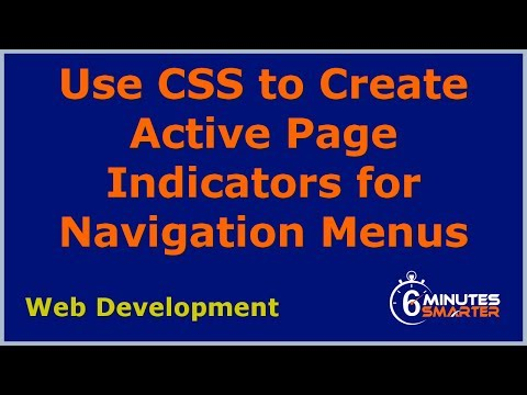 Use Active Page Indicators In Your Navigation Menus
