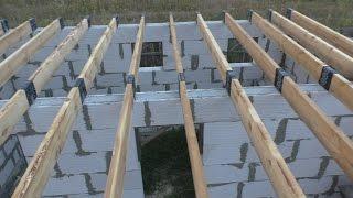 Монтаж (установка) деревянных балок перекрытия(, 2015-08-21T21:25:48.000Z)