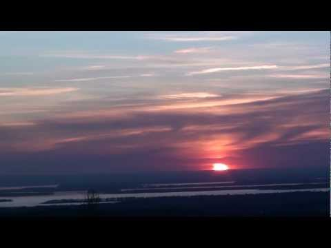 Sunset In 60 Seconds - Time Lapse - April 18, 2012 - Vermont - Lake Champlain - Saint Albans, 05478