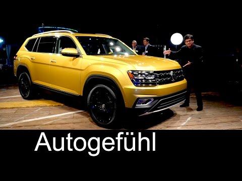 All-new VW SUV Volkswagen Atlas World Premiere Teramont Exterior/Interior - Autogefühl