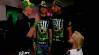 john cena hornswoggle and dx funny moment raw 11 13 09