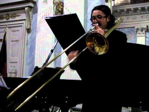 BACH- Preludio dalla Suite n.1 per violoncello trascritta per trombone-Massimo LA ROSA